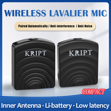 Wireless Lavalier Microphone System with Transmitter Receiver Clip-on Recording Mic for Vlog Video Camera and Phone 2.4G