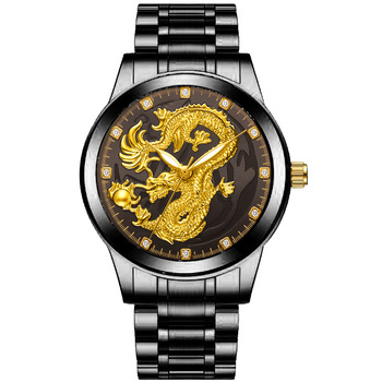 цена Relogio Masculino Dragon Watches Men Quartz Sport Stainless Steel Band Watch Quartz Business Wristwatch Reloj Hombre онлайн в 2017 году