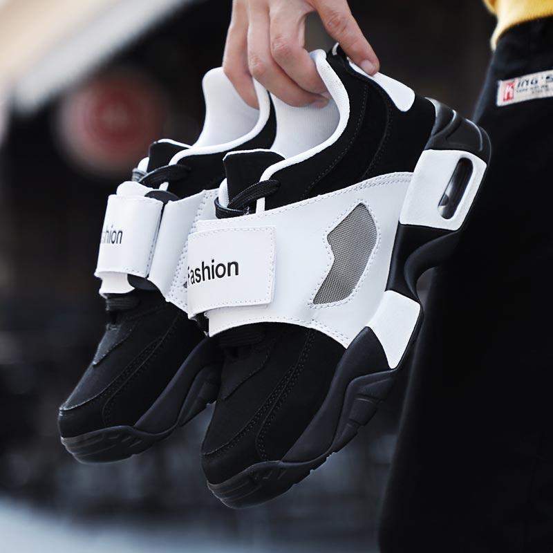 Air Cushion Gym Shoes Women Damping Air Shoes PU Leather Sneakers Women's Platform Running Shoe Sport Black Sports Calzado B-291