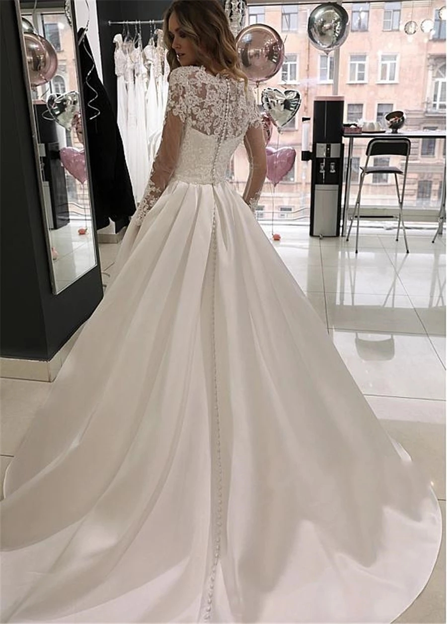Modest-Long-Sleeves-A-Line-Satin-Lace-Dresses-for-Wedding-Party-Buttons-Back-Bridal-Gowns-Custom.jpg_Q90.jpg_.webp