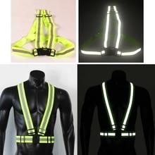 6Pcs Reflective Vest Bands Night Running Biking Walking Safety Straps Reflectors M3GD