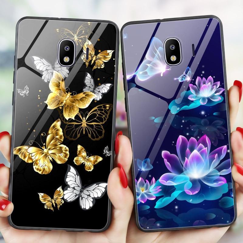 Блестящий чехол-накладка на заднюю панель телефона для Samsung Galaxy J3 2017 J5 2016 J7 J4 плюс 2018 J6 J1 2016 Обложка яркая бабочка бампер J7 2016