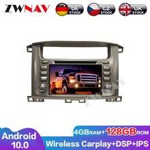 Car Multimedia GPS Full Touch DSP prestazioni eccellenti Android 10 per Toyota Lander Cruiser 100 1998-2007 navigazione Radio automatica
