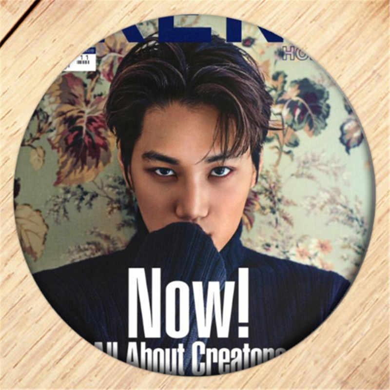 Darmowa wysyłka Kpop EXO KAI broszka Pin dziewczyny naszywki na ubrania dekoracja plecaka biżuteria B186