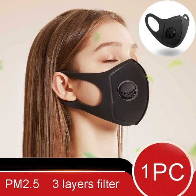 Dust Protection Masks Dropship Reusable Anti Mask Anti Pollution Mouth Unisex Muffle Valve Respirator Masks