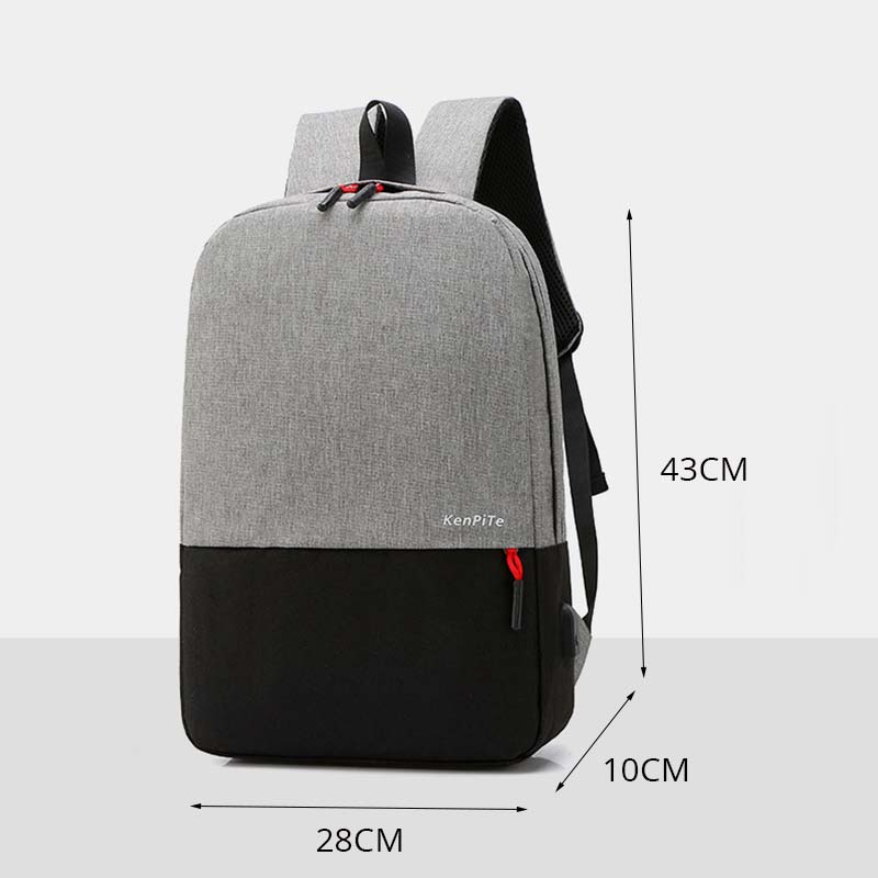 Backpack Men School Student Bag For Teenager Brand Large Capacity Travel Bags Male Casual USB Laptop Backpacks High Quality Bags in Backpacks from Luggage Bags