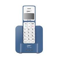 Russo Inglês Línguas Telefones Sem Fio Digitais Backlight Mudo Casa Telefone Fixo de Telefone Sem Fio Telefone Com Speaker Azul|Telefones|Telefonia e Comunicação -