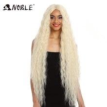 Благородные волосы синтетический парик фронта шнурка синтетический парик длинные вьющиеся Омбре блонд парик 42 дюйма 613 Американский синтетический парик фронта шнурка