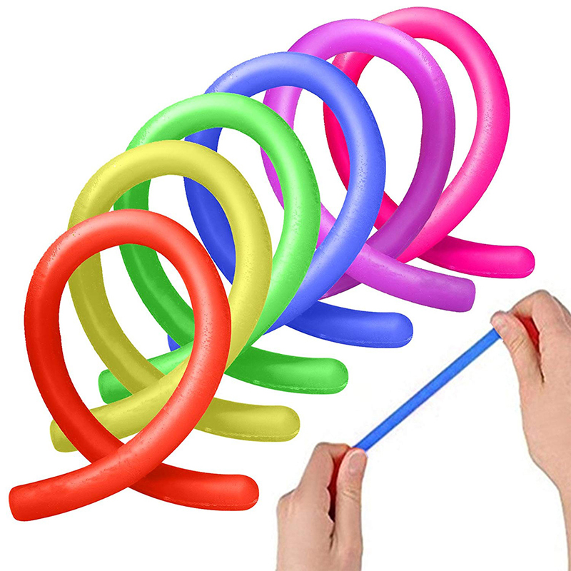 TPR Squeeze Fidget Fiddle Sensory Toy Children Adults Anti Stress New Colorful Stretchy String Fidget Noodle Autism Anxiety Toys
