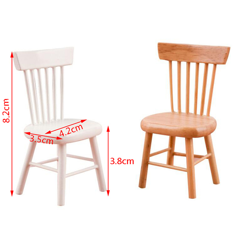 Mini Simulation Stool Chair Furniture Model Toys For Doll House Decoration 1/12 Dollhouse Miniature Accessories 4x4x8.3cm