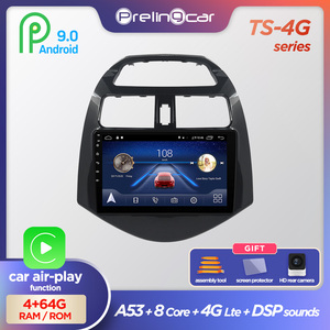 Prelingcar Android 9.0 NO DVD 2 Din Car Radio Multimedia Video Player Navigation GPS For Chevrolet Spark M300 2010 11 12 13 14(China)