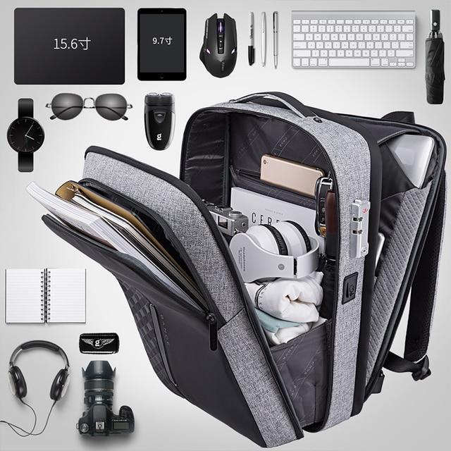 Bange Men Business Backpack Multifunction USB Charging 15.6 Inch Anti thief Laptop Bag Large Capacity Waterproof Travel Bags 4