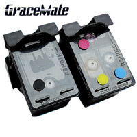 hp officejet GraceMate Refilled Ink Cartridge Replacement for HP 62 XL cartridge for HP Envy 5640 OfficeJet 200 5540 5740 5542 7640 printers (2)