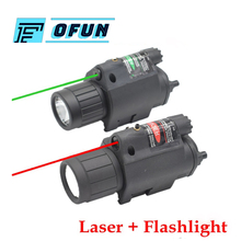 цена на Tactical Combo Red Green Laser Sight Led Laser Flashlight With 20mm Rail Weaver Picatinny Fit For All 20mm Rail Gun Glock