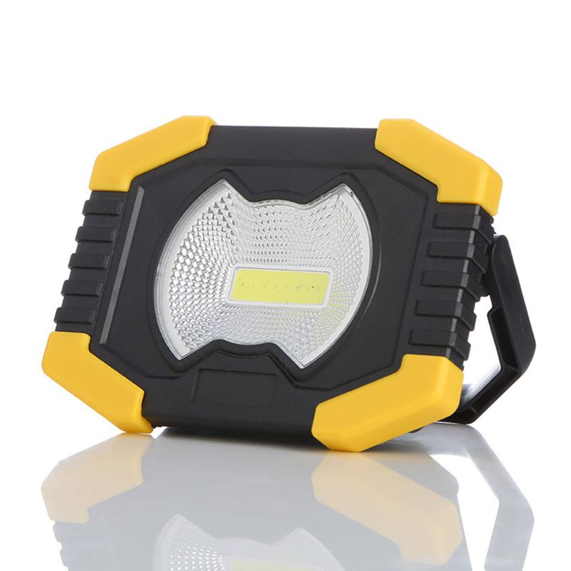 Mini Protable Solar COB LED Work Light Emergency Flashlight Rechargeable Camping