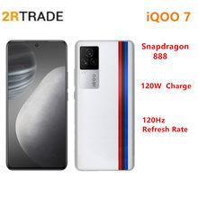 Iqoo 7 snapdragon 888 5g telefone inteligente 6.62 polegada 120hz amoled display 120w carregamento rápido lpddr 5 ufs 3.1 wifi 6 android 11