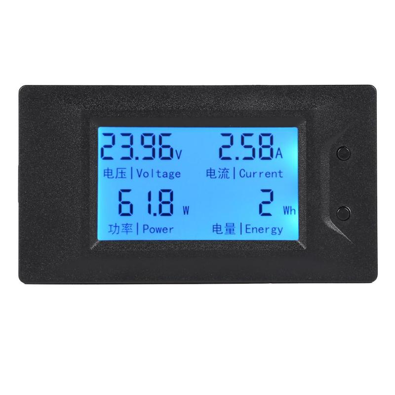 30A DC Digital Voltage Current Power Meter Battery Tester Backlight Display LCD Power Voltmeter Ammeter Tester Detector|Voltage Meters| |  - title=