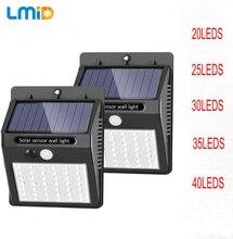 LED Solar Light 3 Modes  Outdoor Solar Lamp PIR Motion Sensor Wall Light Waterproof Solar Powered Sunlight For Garden Decoration