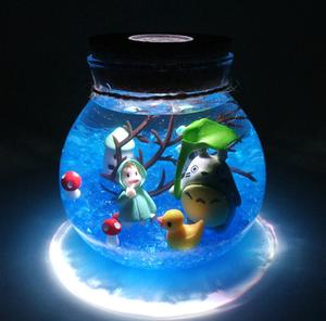 Креативный светодиодный ночной Светильник для детей с дистанционным управлением 13 цветов , аквариумная лампа для рыб, Декор, прикроватный Д...