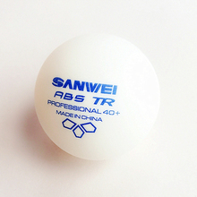 100 balls Table tennis ball SANWEI 2019 New 3-star TR ABS Material Plastic Professional 40+ training ping pong