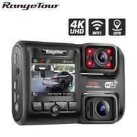 4K 2160P WIFI GPS Logger Dual Lens Car DVR Novatek 96663 Chip Sony IMX323 sensore visione notturna doppia fotocamera Dash Cam Recorder D30H