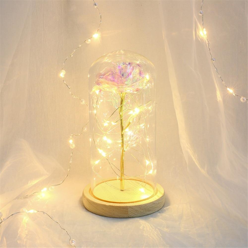 Eternal Flower Glass Cover Beauty And Beast Eternal Flower Rose In Flask 15