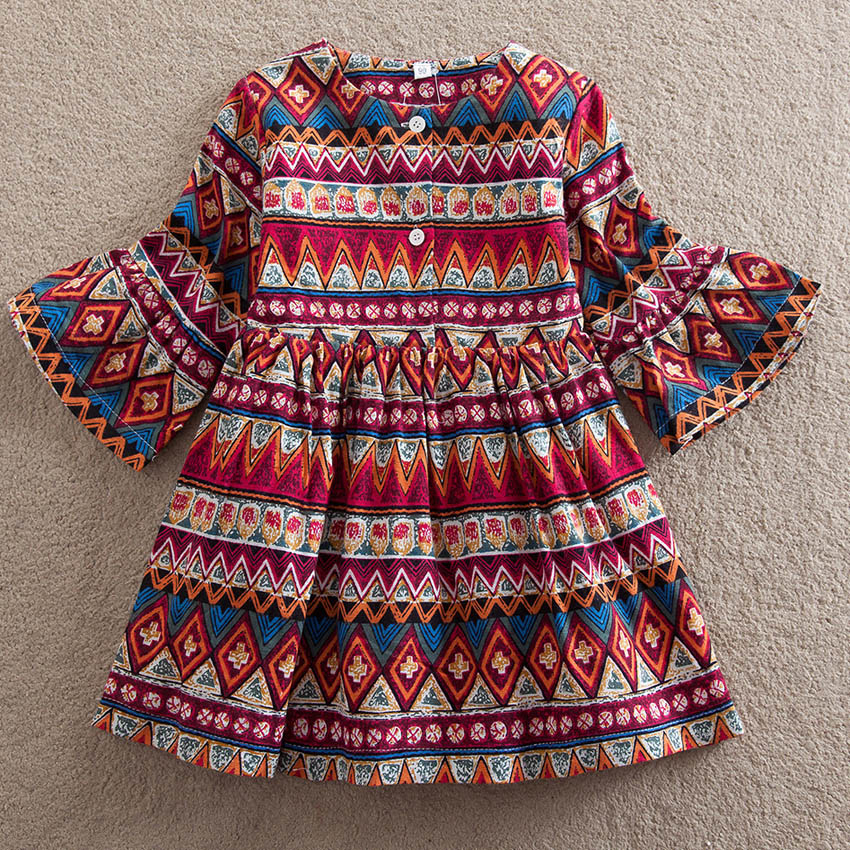 Baby Girl Clothes 2019 News Autumn African Dresses For Women Children Dashiki Print Bohemia Clothes Party Casual Robe Africaine