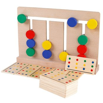 Baby Wooden Toy four-color game Montessori enlightenment teaching aids  toys for Early Childhood Education Preschool Learning children s wooden toys enlightenment early education learning card english spelling cognitive puzzle montessori teaching aids