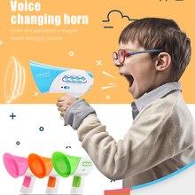 цены Children's Voice Changer Upgraded Multi-channel Mini Horn Funny Puzzle Handheld Loudspeaker 7 Voices 5 Music DIY Baby Toys Horn