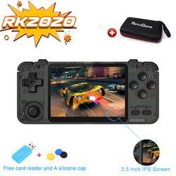 Consola Retro RK2020, pantalla IPS de 3,5 pulgadas, consola de juegos portátil PS1 N64, reproductor de videojuegos rk2020