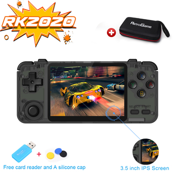 RK2020 Retro Console 3.5inch IPS Screen Portable Handheld Game Console  PS1 N64 Games Video Game Player Rk2020
