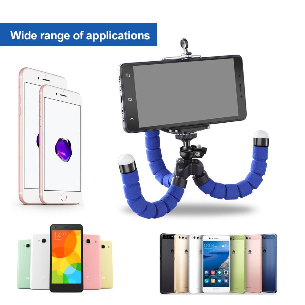 Flexible Phone Holder Sponge Octopus Tripod