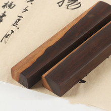 Chinese Paperweights Double Color Ink Painting Paperweights Wooden Gift Pisa Papeles 20cm Beginner Black Catalpa Paper Weight