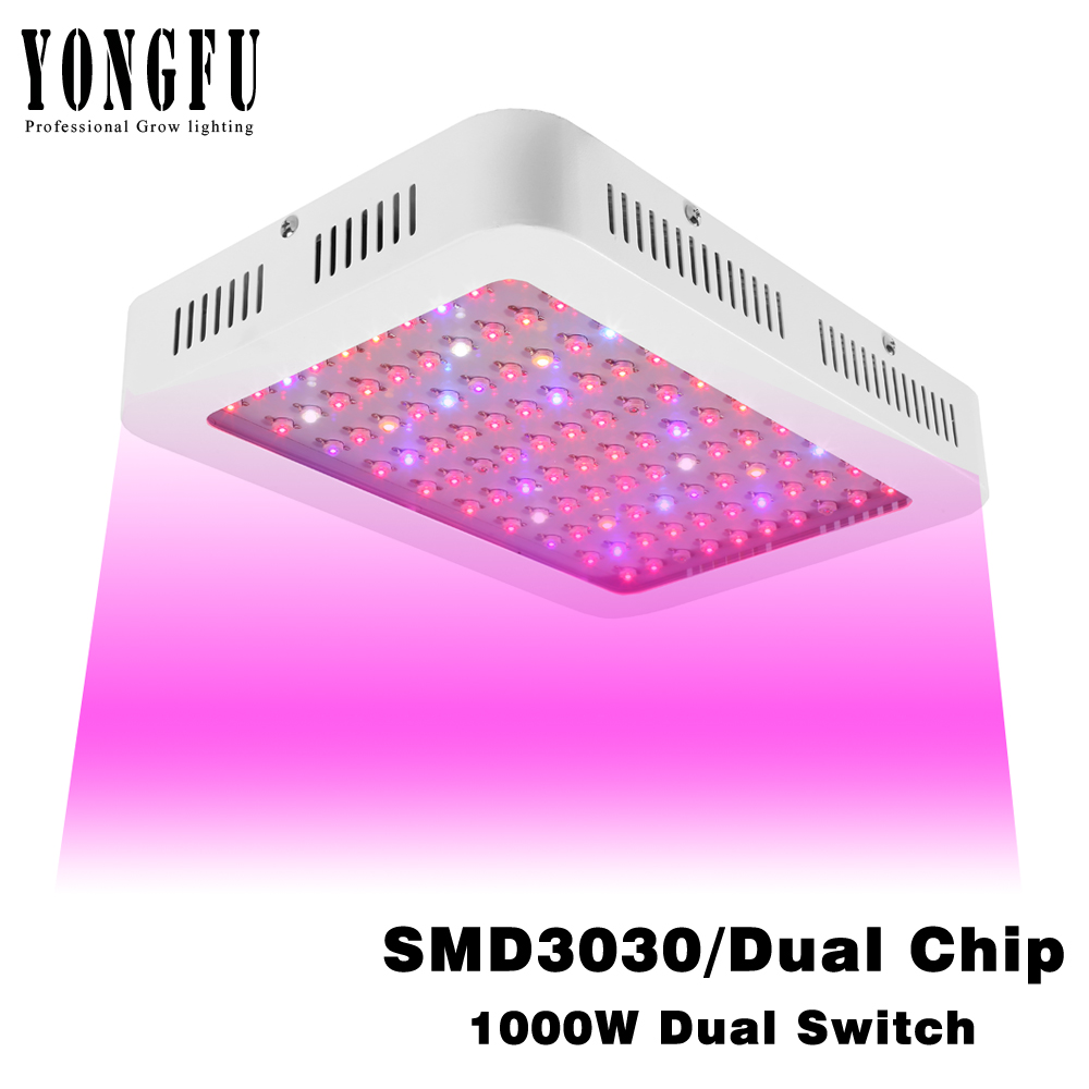 1000W LED Grow Light Full Spectrum Dual Switch SMD3030/Dual Chip Plants Of Lamps For Indoor Planting Veg And Flower Grow Tent