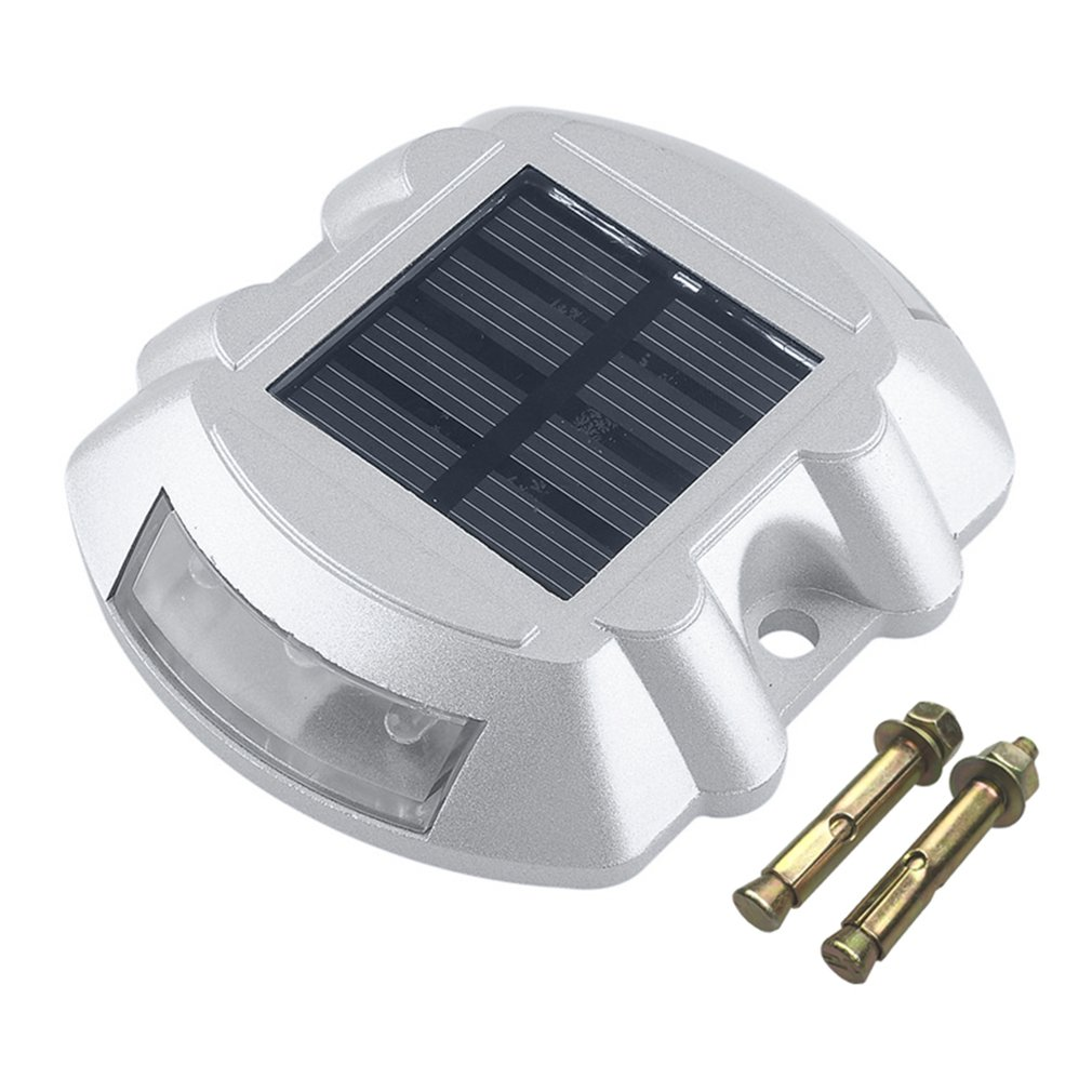 ICOCO Practical Aluminum Solar LED Outdoor Road Driveway Dock Path Ground Light Lamp Naturally Charged By The Sun