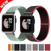 Nylon Armbanden Voor Xiaomi Mi Horloge Lite Case Metal Protector Case Frame Band Voor Xiaomi Mi Horloge Lite Bumper Correa band