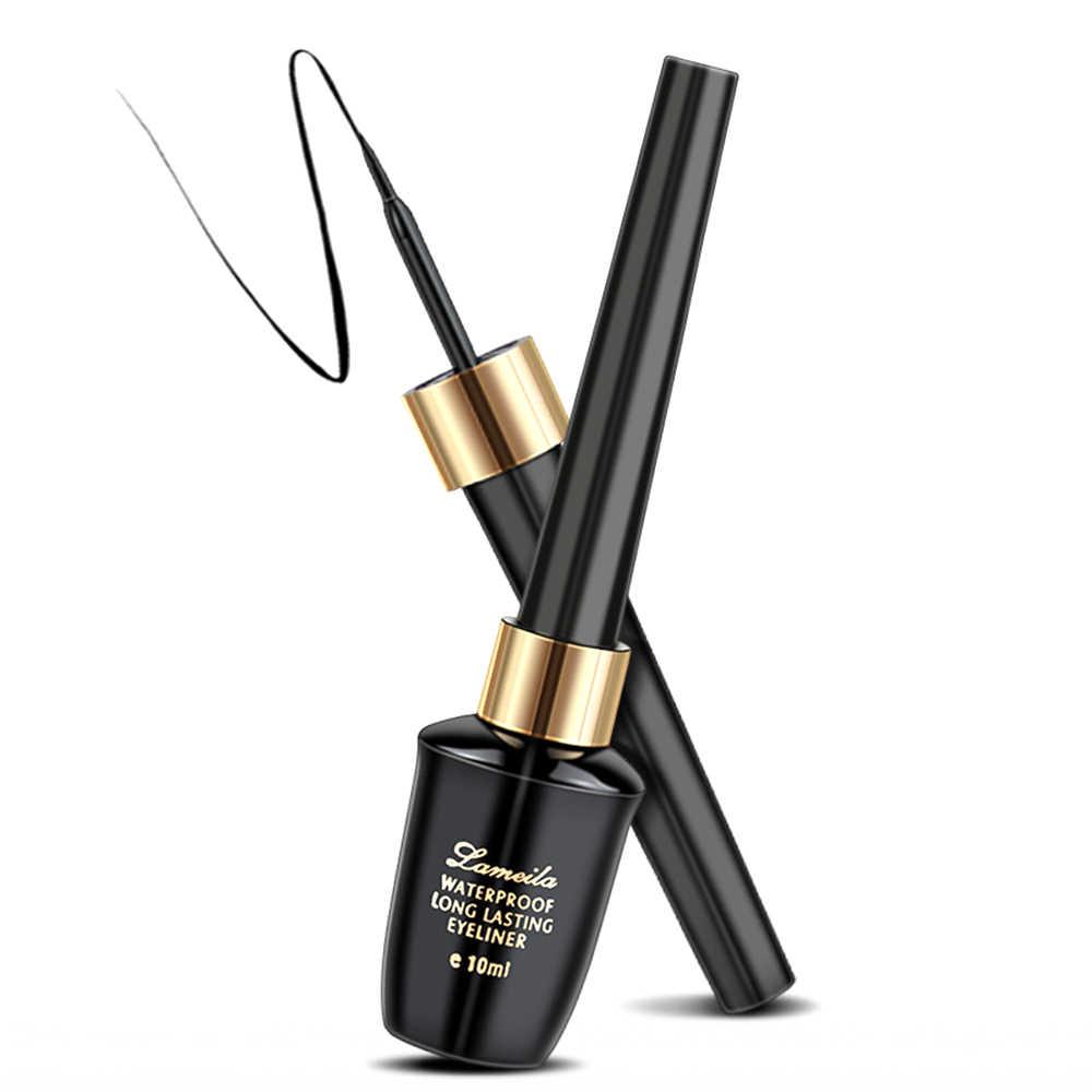1 adet 10ml su geçirmez Eyeliner sert kafa hızlı kuru ter geçirmez çiçeklenme uzun ömürlü göz kozmetik Maquiagem TSLM2