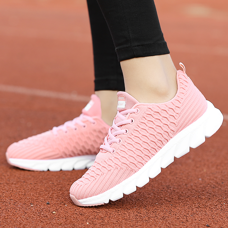 2019 Mesh Women Sneakers Breathable Women Flat Shoes Lightweight Casual Shoes Ladies Lace-up Deportivas Mujer Chaussures Femme 6