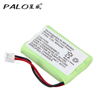 PALO Cordless Phone Rechargeable Battery 3.6V 800mAh NI-MH Replacement Batteries For V-Tech 89-1323-00-00 AT & T Lucent 27910 image