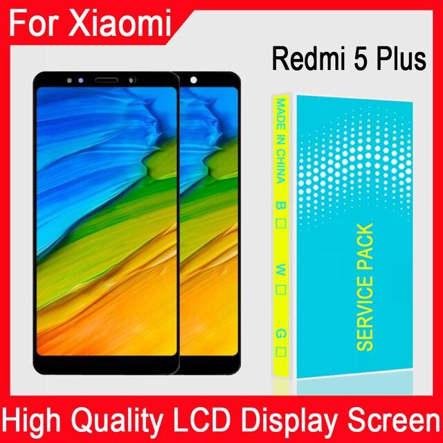 החלפת תצוגה מקורית חדשה של 100% מבחן 5.99 אינץ עבור Xiaomi Redmi 5 פלוס הרכבה Digitizer מסך מגע LCD