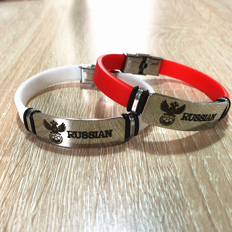 (Ball Game) Fan Supplies Brazil Germany Football Gift Related Products Bracelets Bracelet Stainless Steel Color Fans Bracelet