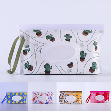 Infant EVA Wipes Container Wet Wipe Bag Eco-friendly Slim Ziplock Cleaning Wipes Case Reusable Portable Cartoon Pattern 24*14CM