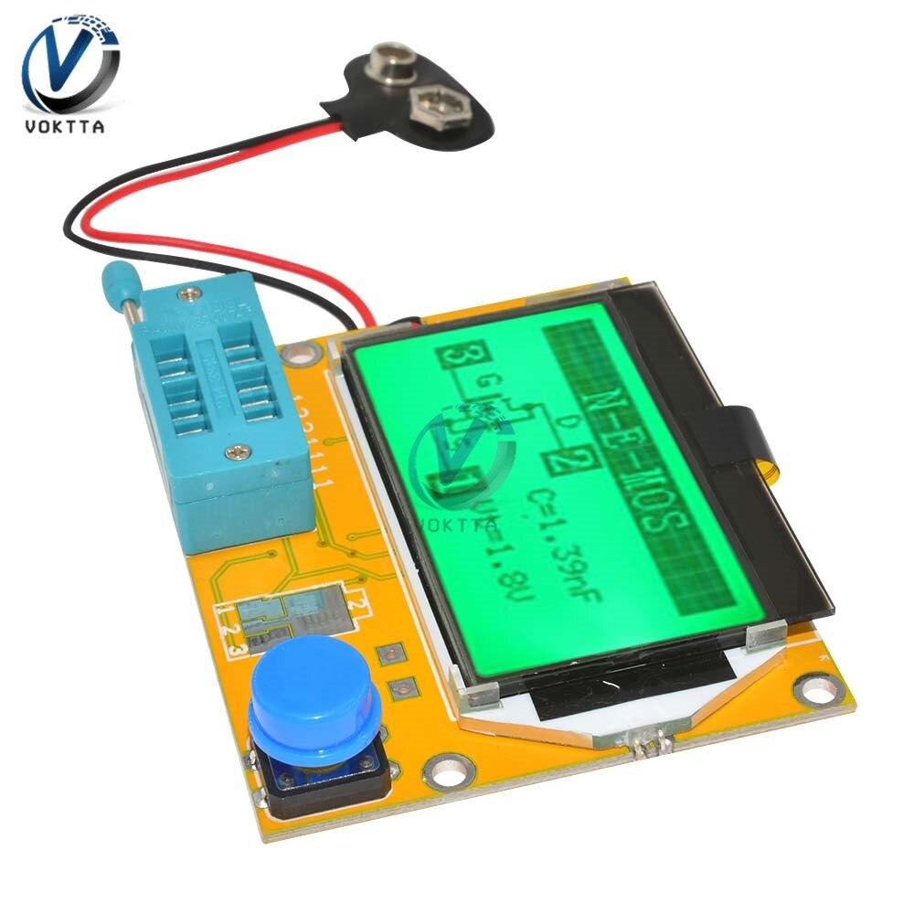 Mega328 LCD Digital Transistor Tester LCR-T4 Backlight Diode Triode Capacitance ESRT4 Digital LCD Screen For MOSFET/JFET/PNP/NPN