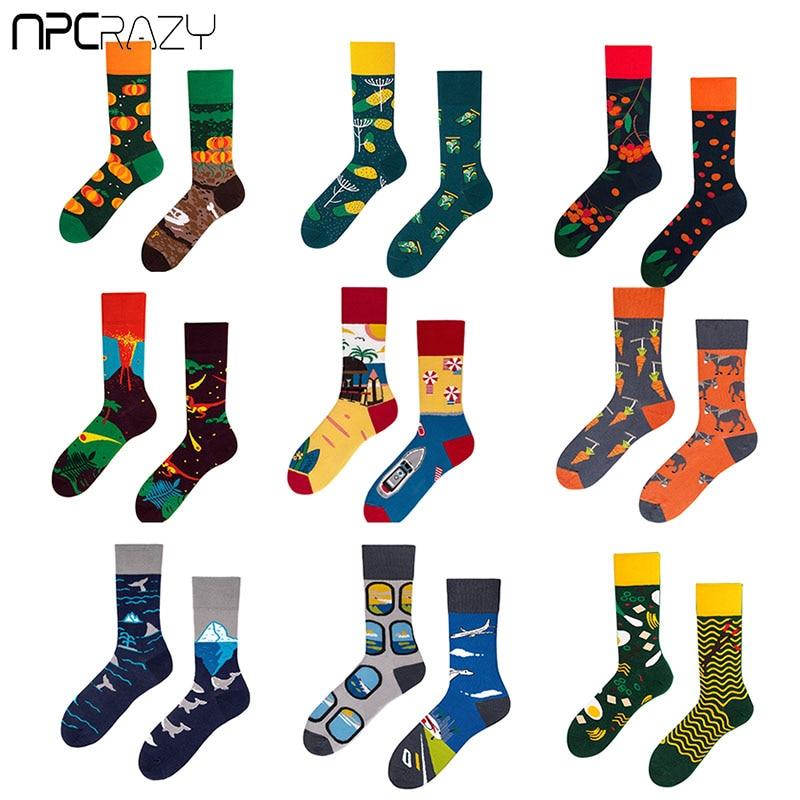 2019 New Personality Fashion AB Style Women Socks Animal Cartoon Lovers Cotton Socks Harajuku Creative Mens And Womens Sock