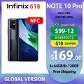Смартфон Infinix Note 10 Pro NFC, 6 + 64/8 + 128 Гб, процессор Helio G95, 6,95 дюйма, FHD +, полный экран, камера 64 мп, 90 Гц, высокое обновление