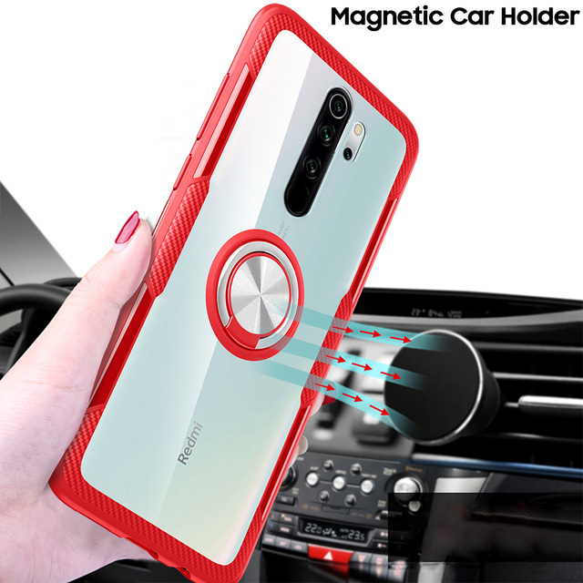 KEYSION Ring Case for Redmi Note 9S 9 Pro Max 8 Pro 7 K20 Clear Shockproof Phone Cover for Xiaomi Mi 10 9T Pro Note 10 Mi 9 Lite 1
