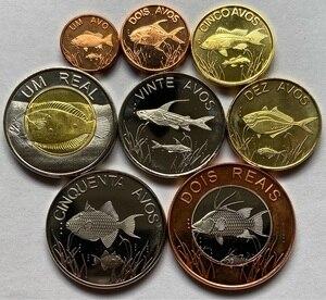Set 8Pcs Cabenda Angola Island Coins Africa Original Coin Good Condition Collection New(China)