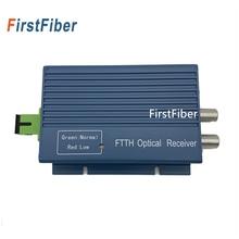 Aluminium CATV FTTH AGC Micro SC APC Simplex Stecker mit 2 Ausgang Port für PON Faser Optische Empfänger