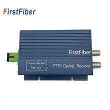 Conector de aluminio CATV FTTH AGC Micro SC APC Simplex con 2 puertos de salida para receptor de fibra óptica PON