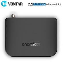 VONTAR DVB S2 חכם טלוויזיה תיבת אנדרואיד 7.1 Amlogic S905D Quad Core 1GB 8GB 1080p 4K 30fps youtube Google לשחק חנות MECOOL M8S בתוספת